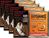 Emergency BRW Made In USA Survival Sleeping Bags - Pack of 4 Bags PLUS Four HeatMax 18 Hour Body Warmers