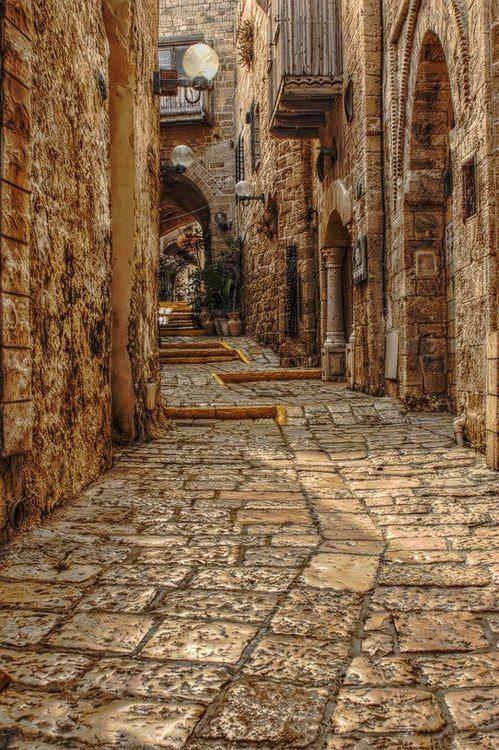 Medieval streets, Rhodes, Greece