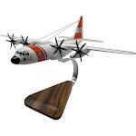 USCG Lockheed Martin C-130 Hercules Open Edition Mahogany Model