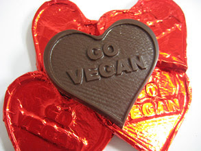 "Organic Chocolate ""Go Vegan"" Hearts by Boardwalk Chocolates"