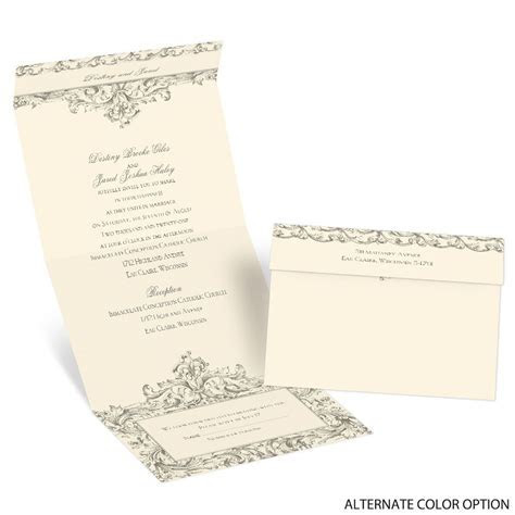 Victorian Romance Seal and Send Invitation   Ann's Bridal