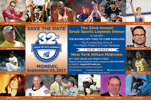 32nd Annual Great Sports Legends Dinner to benefit The Buoniconti Fund