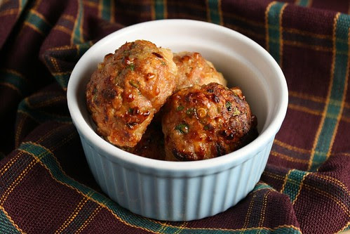 Spicy Smoked Mozzarella Meatballs