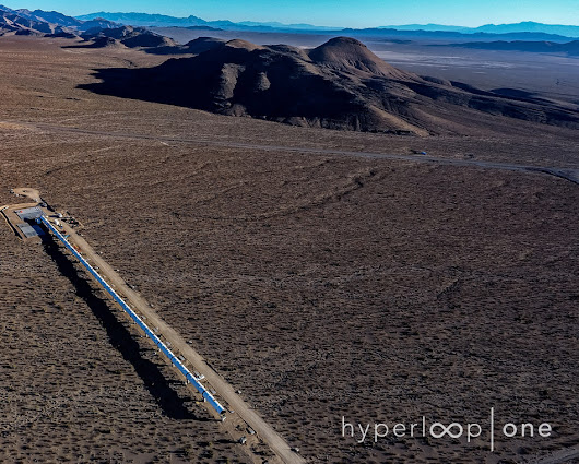 Hyperloop One Reveals First Images of Nevada Desert Development Site ('DevLoop') at Middle East Rail