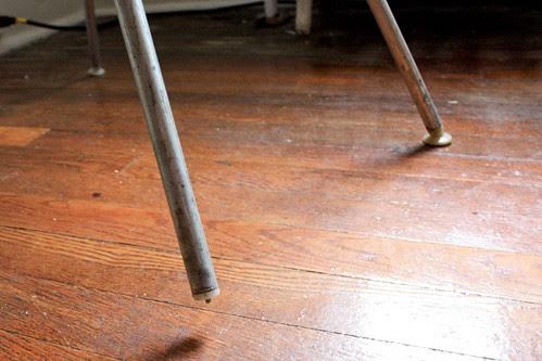 Comparison of broken chair glide and non-broken chair foot
