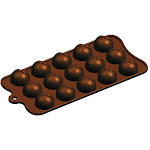 Fat Daddio's Silicone Chocolate Mold: Wrapped Mound, 15 Cavities | Bakedeco