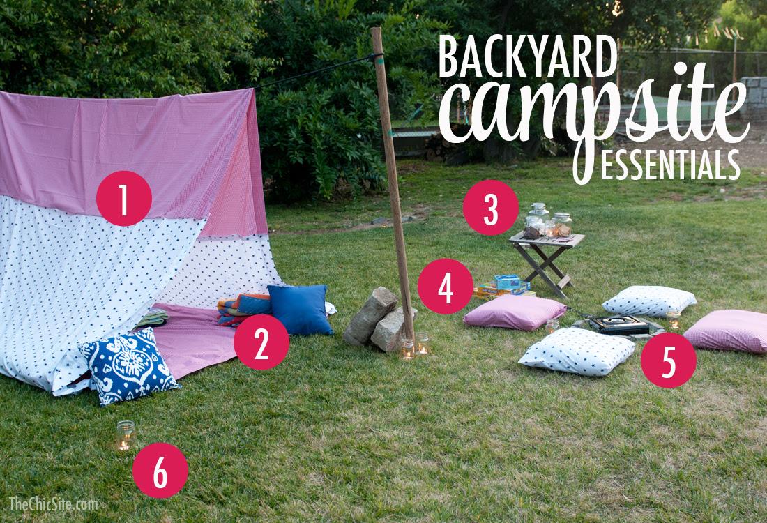 back yard camping ideas
