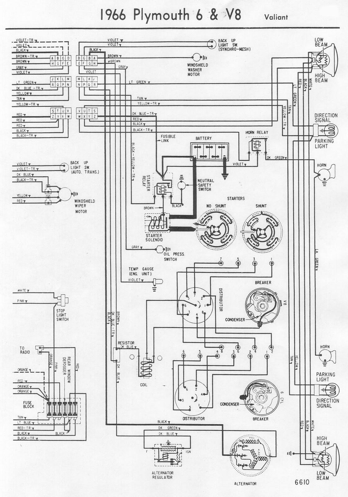 1966 Barracuda Wiring Diagram