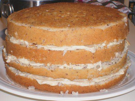 filbert cake before
