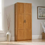 Sauder Select Engineered Wood Storage Cabinet in Highland Oak - 419188