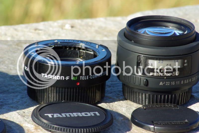 Pentax FA 70mm f/2.0 -- Tamron 1.4x Pz-AF MC4 TC & Pentax FA 50 f/1.4