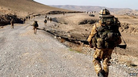 File image of British soldiers in the Kajaki area of Helmand province, Afghanistan, in January 2007
