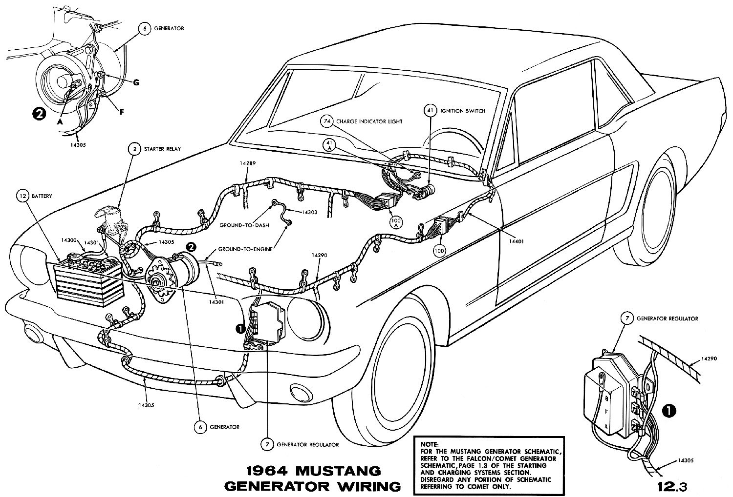67 mustang charge light wiring diagram image 2