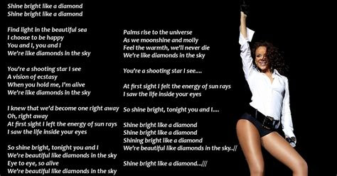 lyrics wallpapers rihanna diamonds   sky