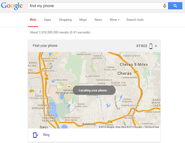 "You can also Google ""find my phone"" to locate your Android."