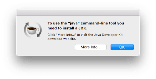 "How to make the annoying ""To use the java command-line tool you need to install a JDK"" pop-up go away forever - One-Minute Macman"