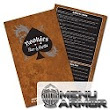 Restaurant Menu Printing: Waterproof, Tear and Stain Resistant - Menu Armor