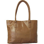 Amerileather Casual Leather Tote Caramel