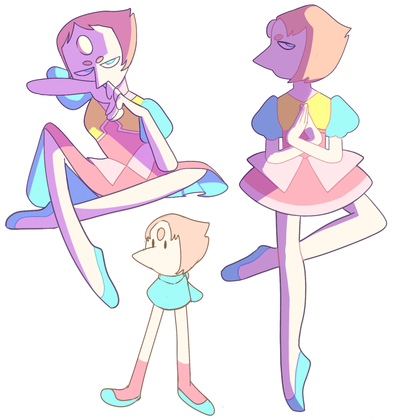 some pearls and one leggy porl who is 90 % leg, all percent sass