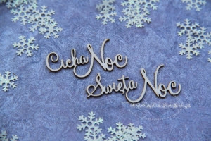 Cicha Noc, Święta Noc 01 napis