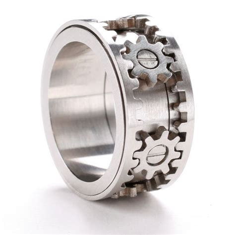 Gear Ring by Kinekt   Get it together!   Steampunk rings