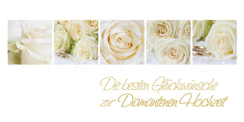 Diamantene Hochzeit Weiße Rosen Www Stimmungs Bilder De