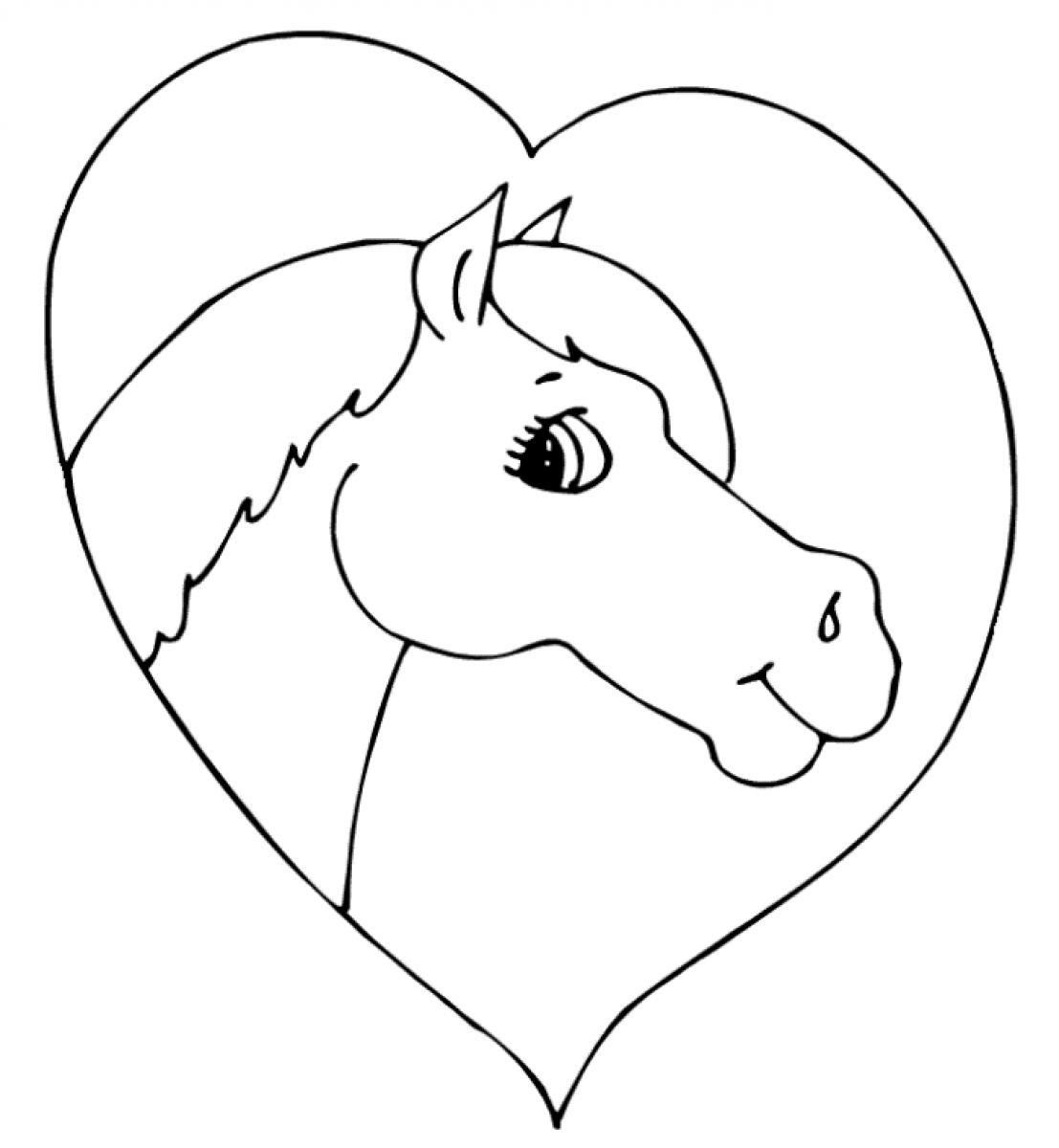 amazing coloriage cheval avec coeur with cheval coloriage