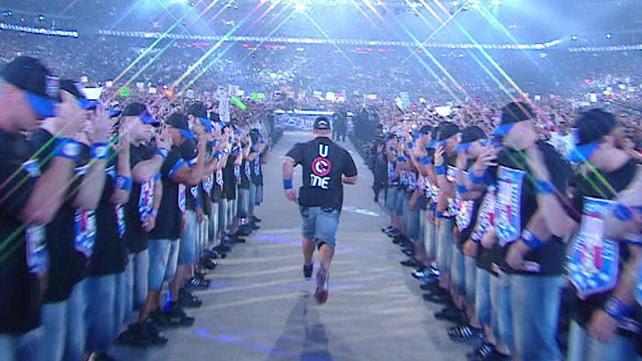 John Cena w 10 najlepszych wejściach na WrestleManii