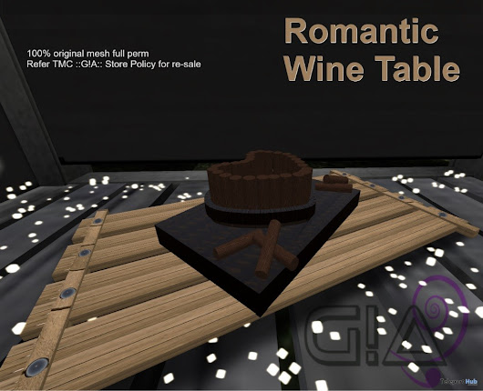 Romantic Wine Table July 2018 Group Gift by Third Moon Creations | Teleport Hub - Second Life Freebies