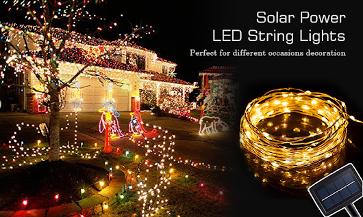 Solar Powered LED String Lights | LED String Lights | GFLAI