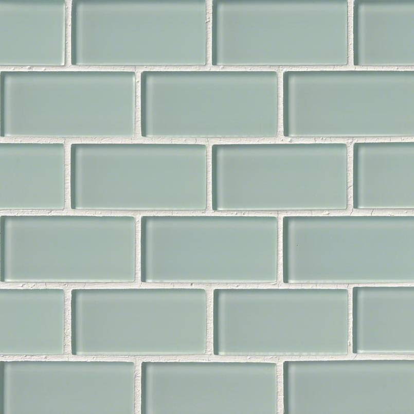 Arctic Ice Glass Subway Tile 2x4 75 Cabinets