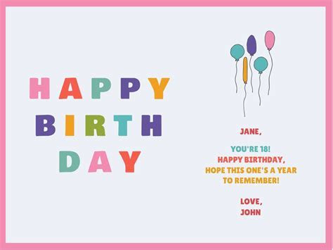 Customize Our Birthday Card Templates   Hundreds To Choose
