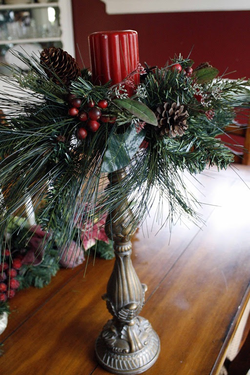 DIY Christmas Candle Ring - minding my nest