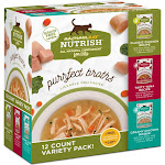 Rachael Ray Nutrish Purrfect Broths Complement for Cats, All Natural, Variety Pack, 12 Pack - 12 pack, 1.4 oz pouches