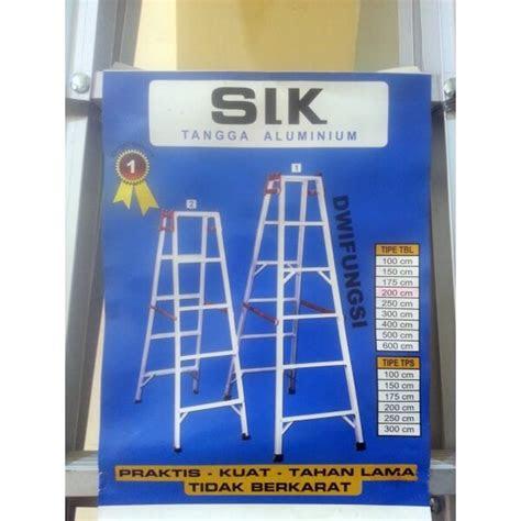 tangga aluminium jumbo slk  tampak pijakan  merek