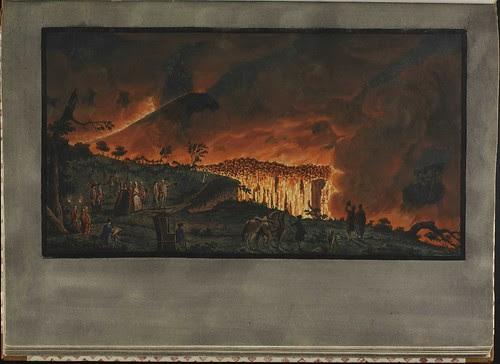 Plate 38, night view of eruption of Mt. Vesuvius
