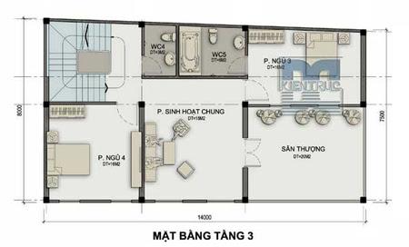Thiết kế nhà ở kết hợp kinh doanh trên đất hình thang vuông | ảnh 3