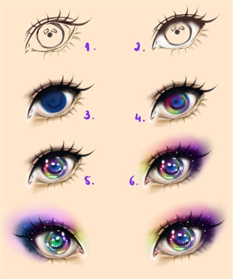 galaxy eyes tutorial  kipichuudeviantartcom