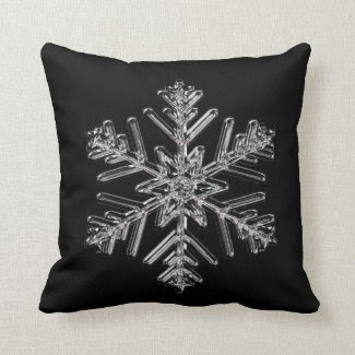 Silver Snowflake Pillows