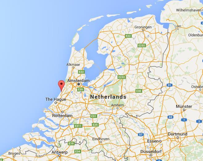 Where is Noordwijk on map Netherlands