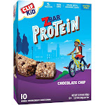 CLIF Kid ZBAR Protein Chocolate Chip Snack Bars - 10ct