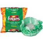Folgers Coffee Filter Packs, Decaffeinated Classic Roast - 40 count, 0.9 oz each