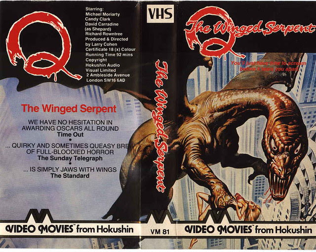 Q THE WINGED SERPENT (VHS Box Art)