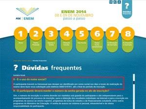 Site do Enem traz o passo a passo para o candidato fazer a inscrição (Foto: Reprodução/Inep)