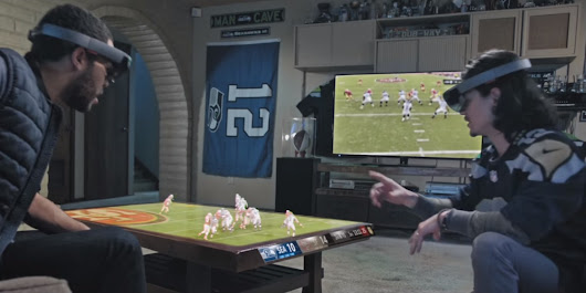How Microsoft imagines you'll watch football with HoloLens