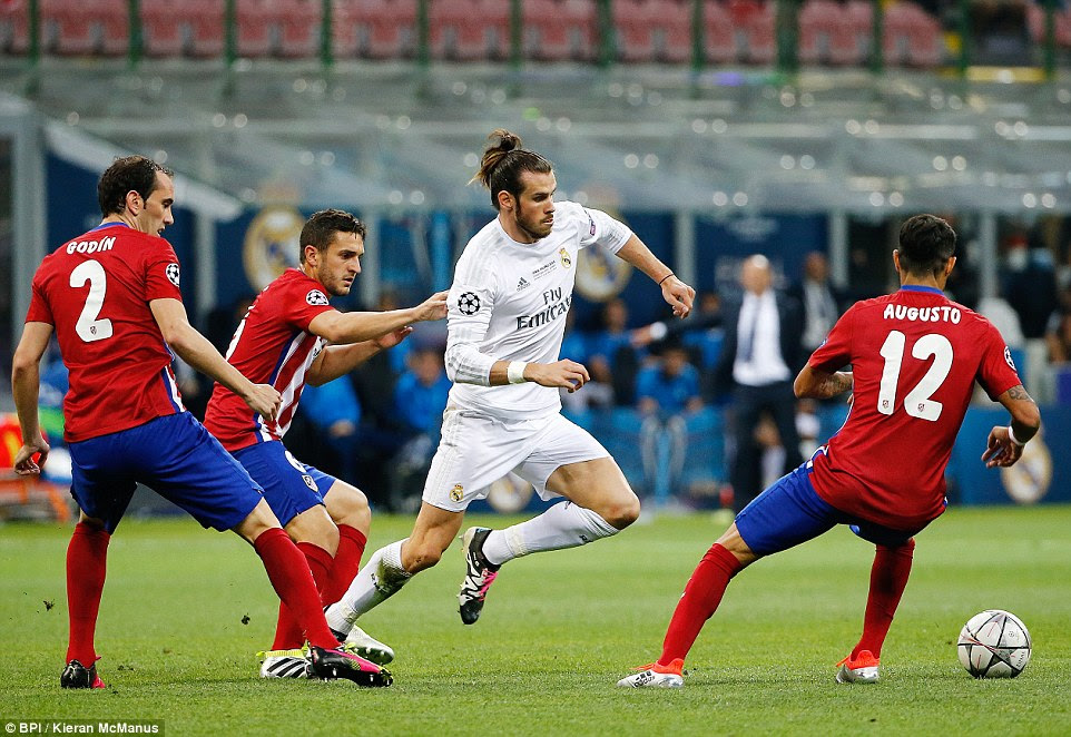 Bale impressed on the counter-attack for Real and the Welshman also tracked back to make decisive contributions throughout
