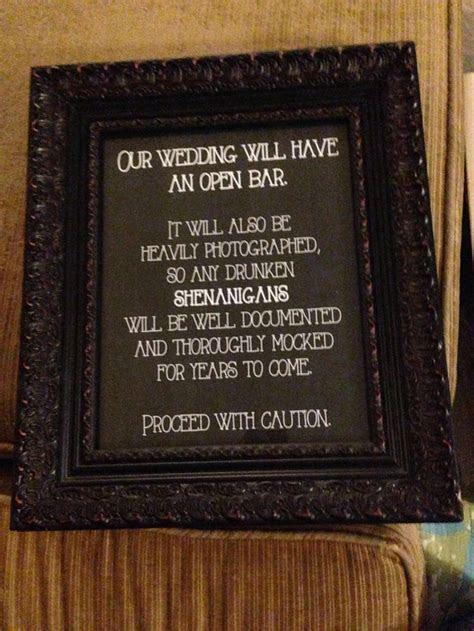 25  best ideas about Open Bar Wedding on Pinterest