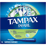 Tampax Pearl Super Unscented Tampons 36 ct Box