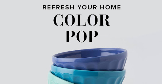 Refresh Your Home With a Pop of Color