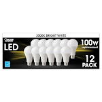 Feit Electric LED 100W Replacement Bright White 12-Pack